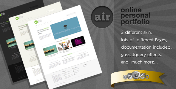AIR - Great Minimalist HTML Template
