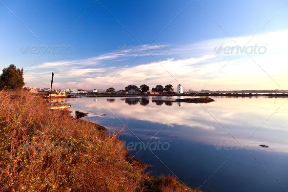 Tide mills. - Stock Photo - Images
