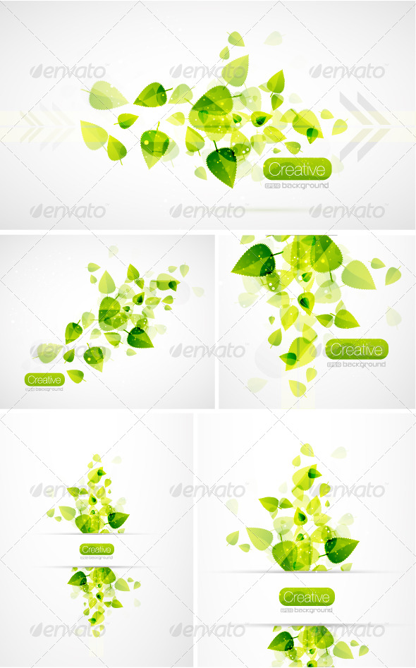 Summer flying leaves - Nature Conceptual