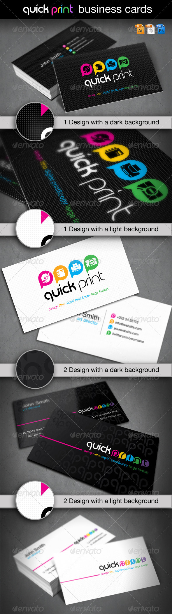 Quick Print Business Cards - Industry Specific Business Cards