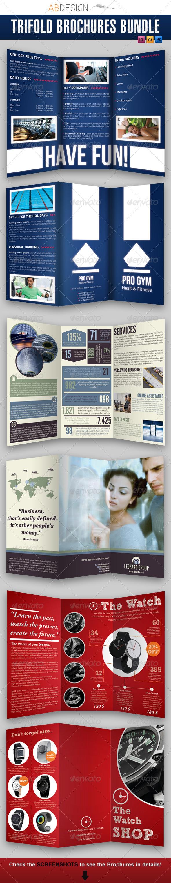 GraphicRiver Trifold Brochures Bundle 2 1392525