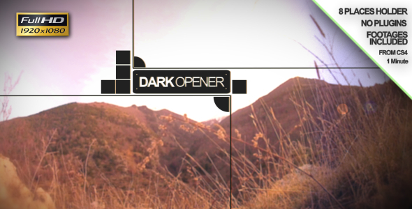 After Effects Project - VideoHive Dark Opener 1392588