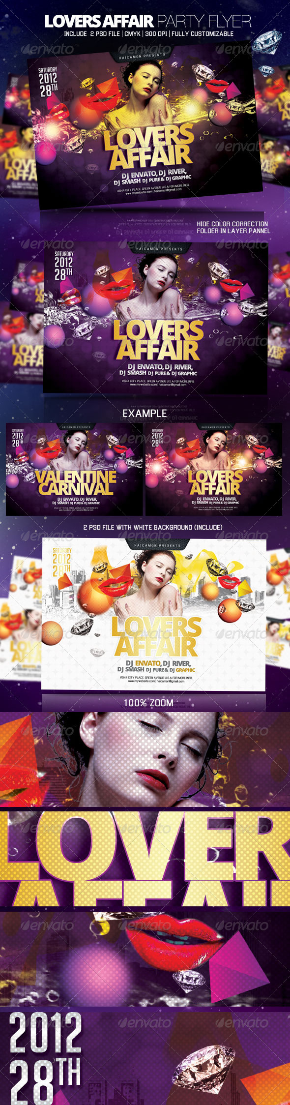 Lovers Affair Party Flyer - Clubs & Parties Events