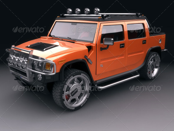 Hummer H2 SUT - 3DOcean Item for Sale