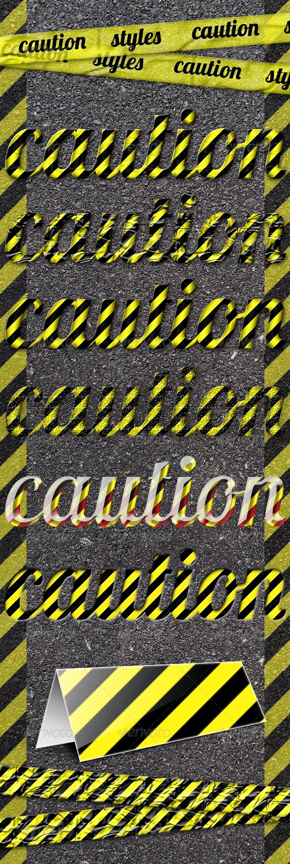 Caution Styles - Text Effects Styles