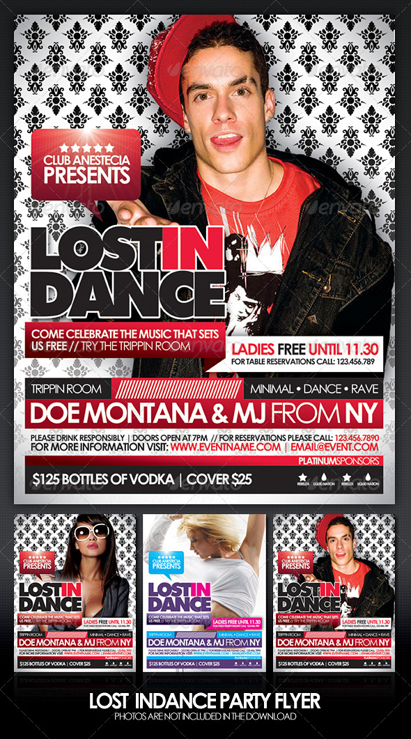 GraphicRiver Lost In Dance Flyer 165674
