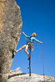 Rock climber rappelling. - PhotoDune Item for Sale