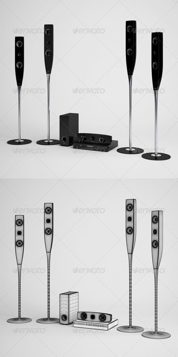 3DOcean CGAxis Home Theater Electronics 09 165758