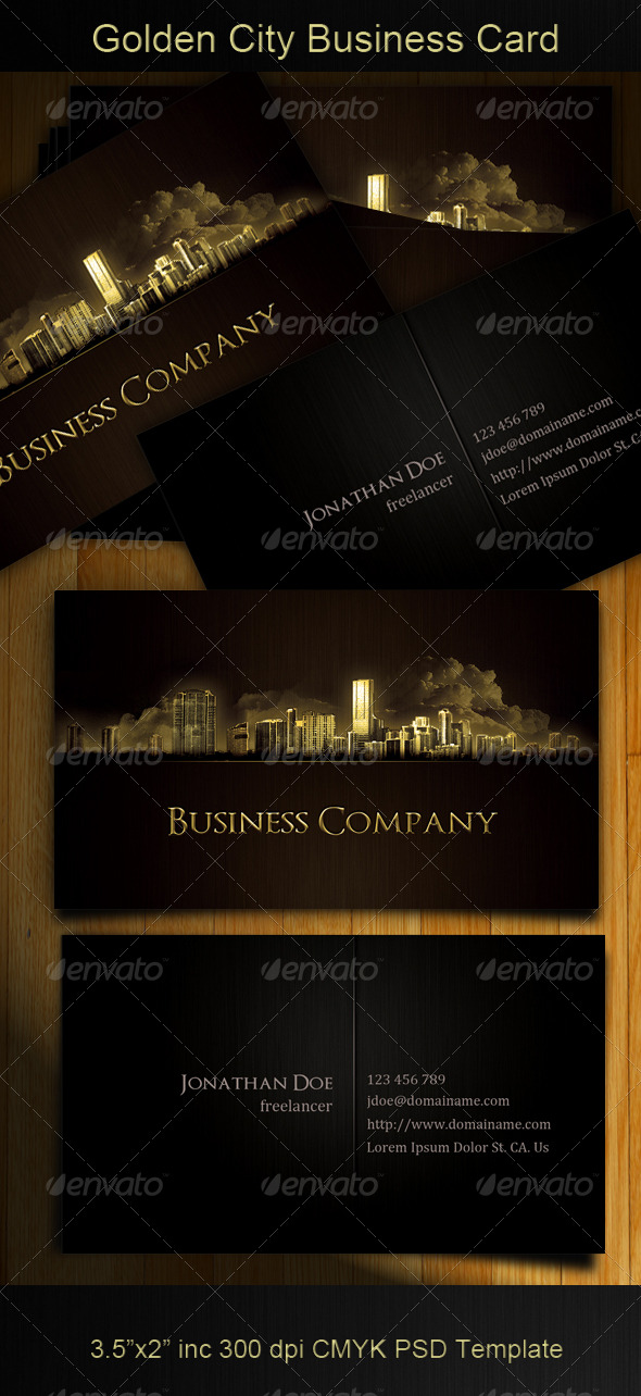 GraphicRiver Golden City Business Card 165769