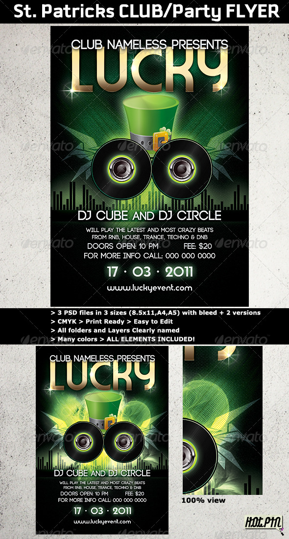 St. Patricks Club/Party flyer template - Clubs & Parties Events