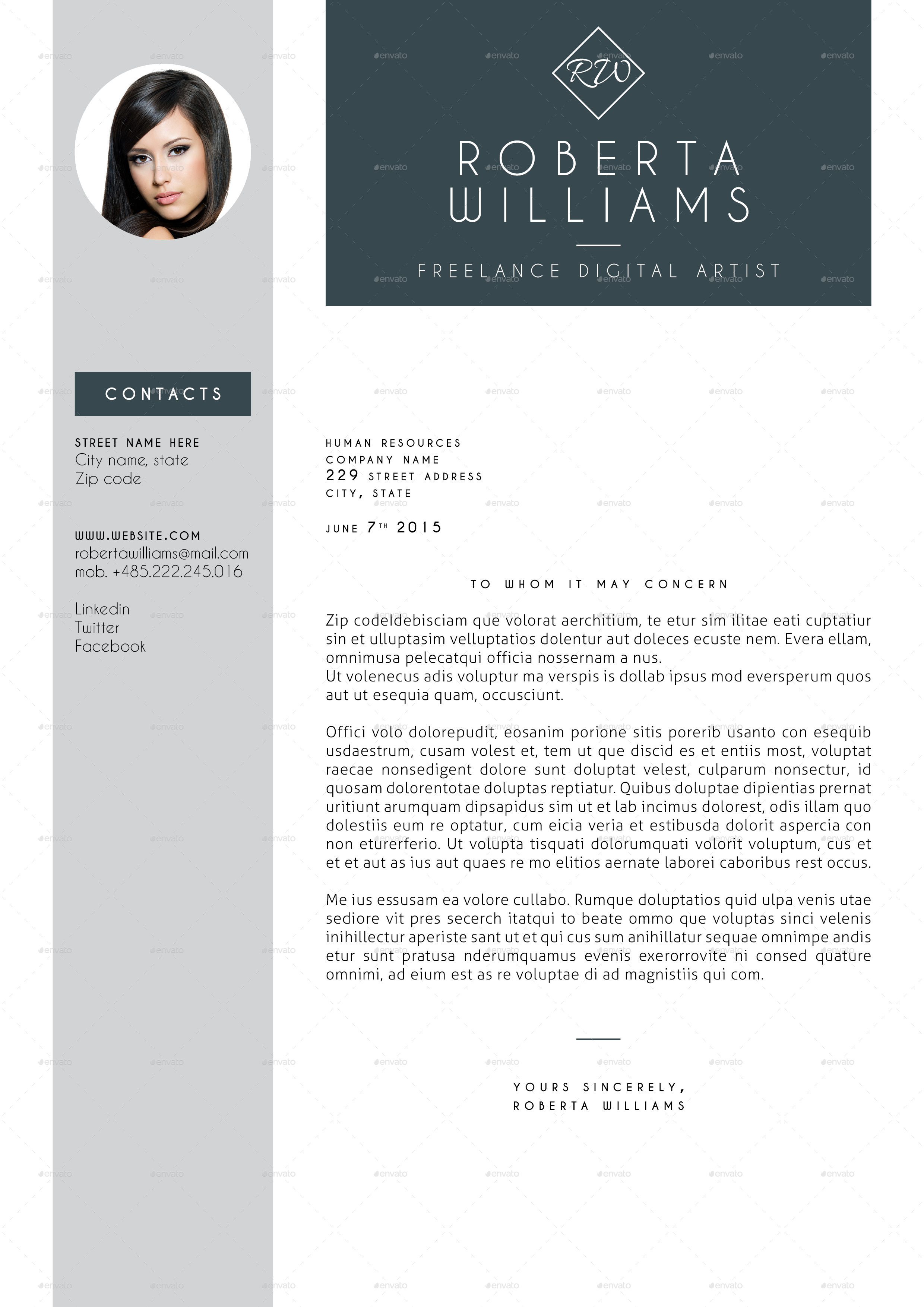 adobe indesign cv template free - Selo.l-ink.co