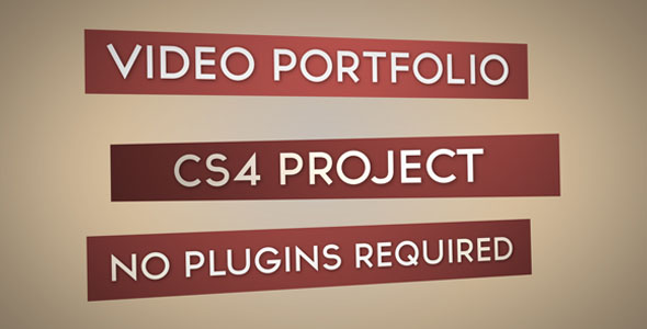 After Effects Project - VideoHive Video Portfolio CS4 166059
