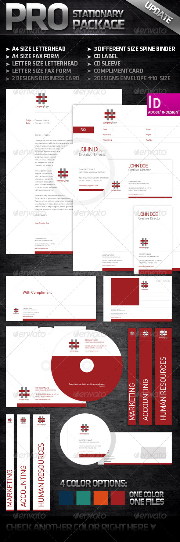 GraphicRiver White and Clean Complete Stationary 160345