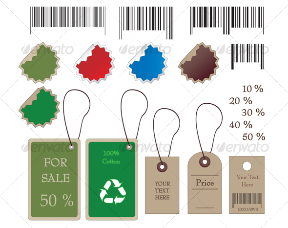 GraphicRiver Barcodes stickers tally and labels 55353