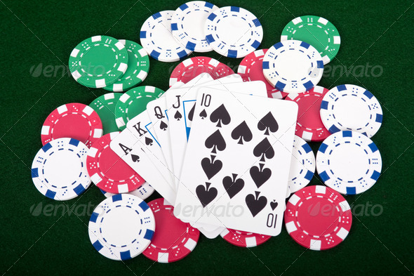 Royal Straight Flush - Stock Photo - Images