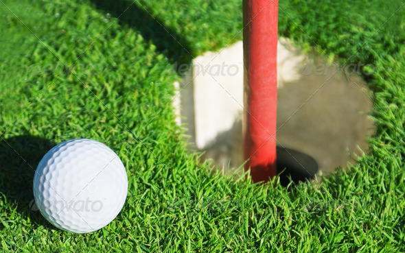 golf ball - Stock Photo - Images