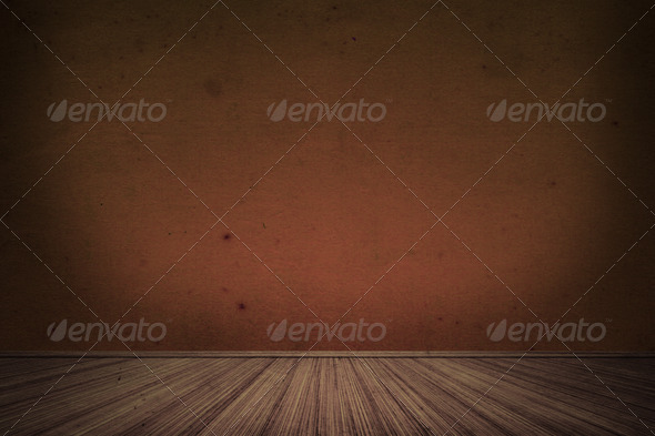 Brown Vintage Interior Room - Stock Photo - Images