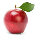 Ripe red apple on a white background  - PhotoDune Item for Sale