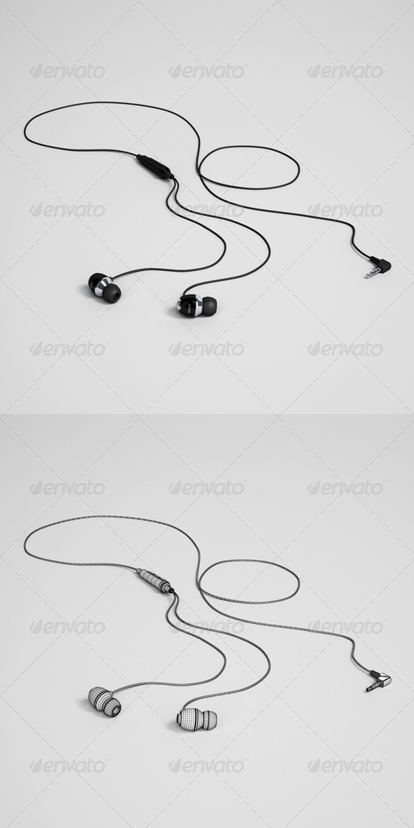 3DOcean CGAxis Earbuds Electronics 32 166383