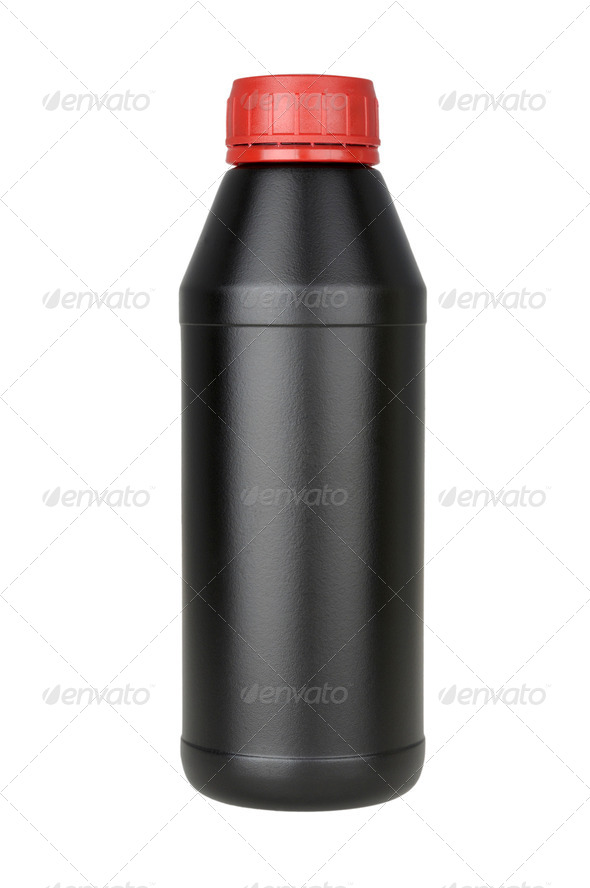 plastic bottle for transmission oil - Stock Photo - Images