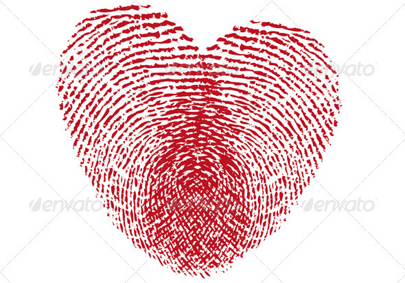 GraphicRiver Fingerprint Heart 1401587