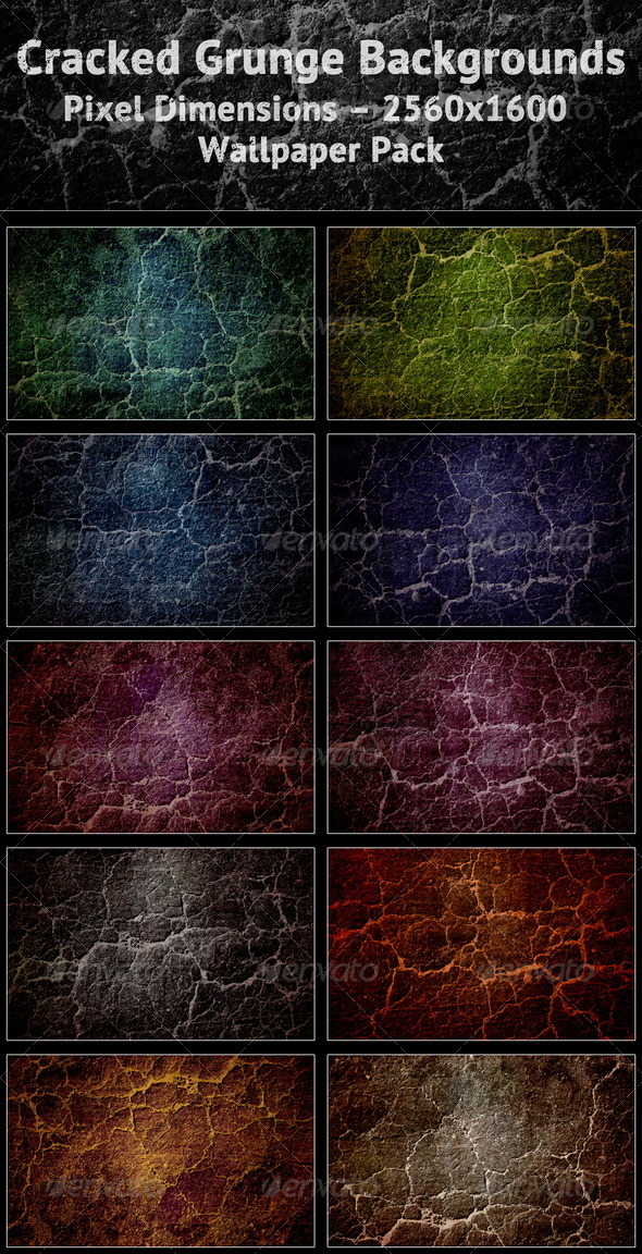 Cracked Grunge Backgrounds - Abstract Backgrounds