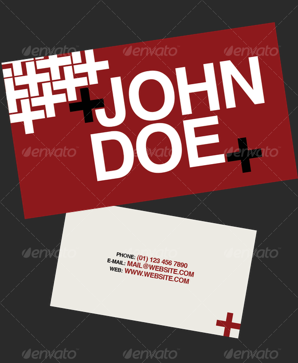 Red+ Business Card - Creative Business Cards