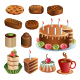 Set of chocolate sweets and cakes - GraphicRiver Item for Sale