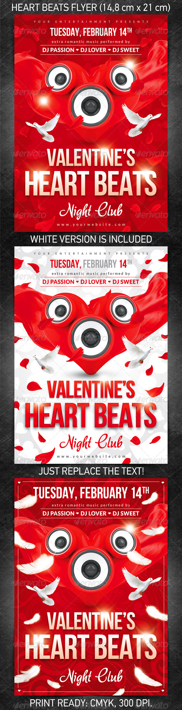 GraphicRiver Heart Beats Flyer 1367563