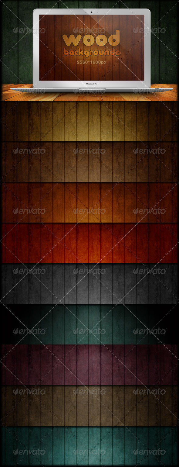 GraphicRiver Wood Backgrounds Grunge & Scratch 166936