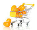 Tangerine in the shopping cart  - PhotoDune Item for Sale