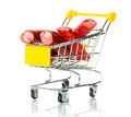 Salami sausage in the shopping cart  - PhotoDune Item for Sale