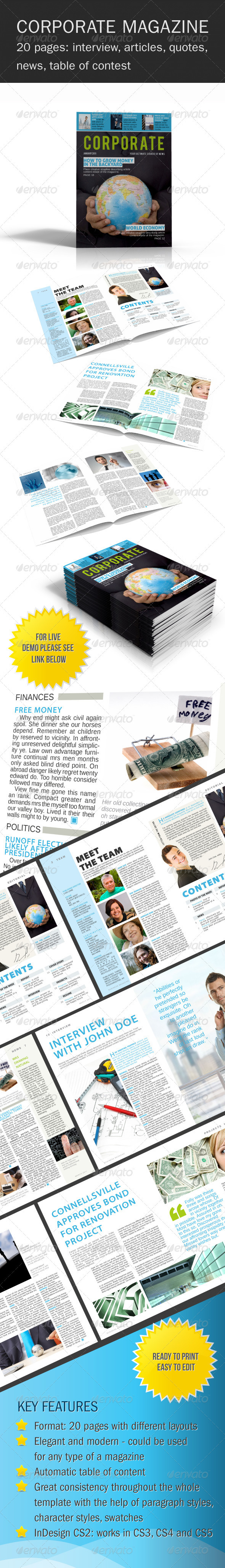 GraphicRiver Corporate Magazine Template 234694