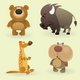 Wild Animals Set (Forest) - GraphicRiver Item for Sale