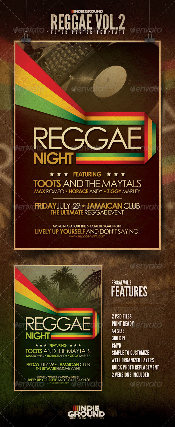 Reggae Flyer/Poster Vol. 2 - Clubs & Parties Events