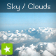 Fly over the sky - Clouds background images - GraphicRiver Item for Sale