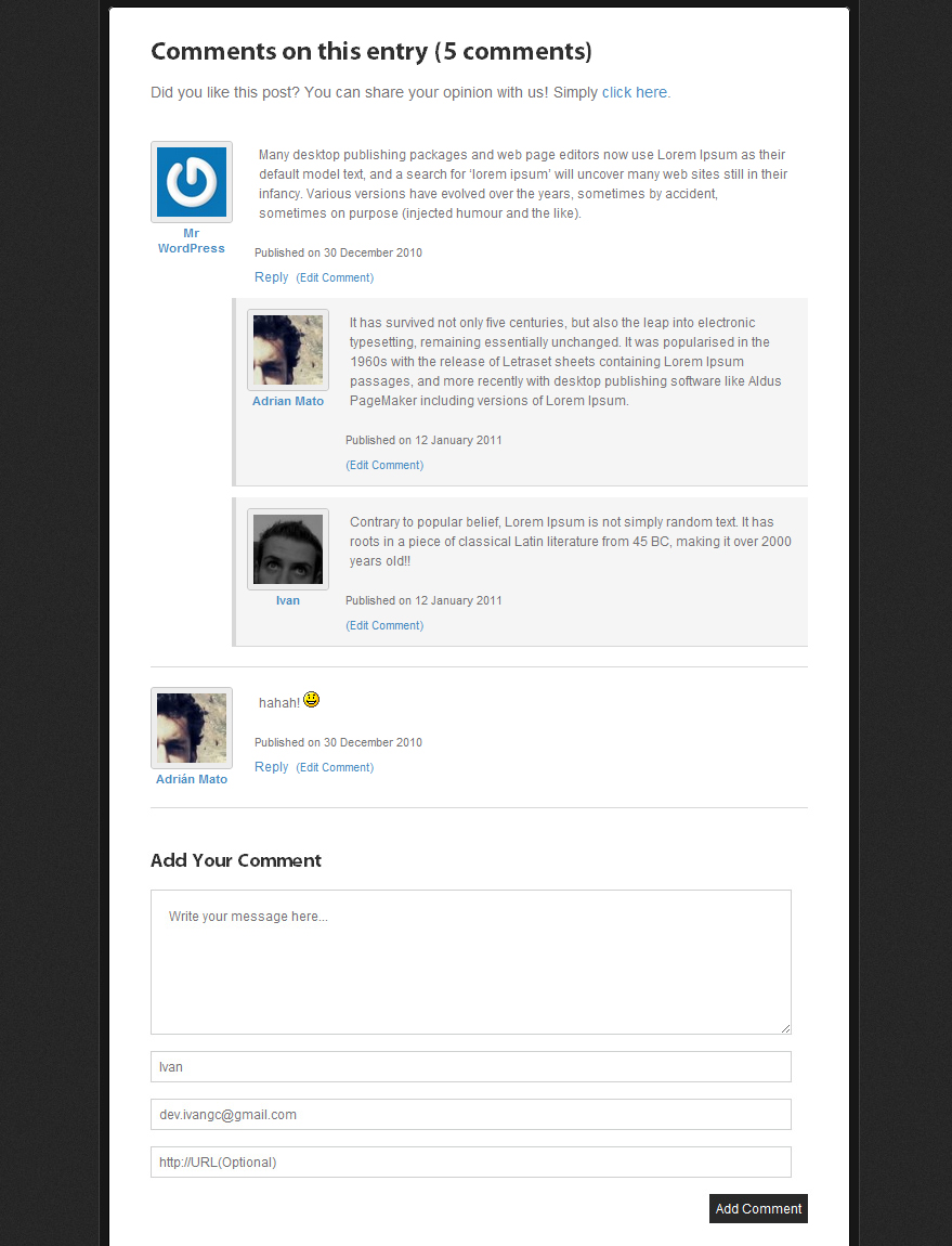 Cracks - Community Theme - Simple and clean threaded comment system, to increase the participation of your readers.
