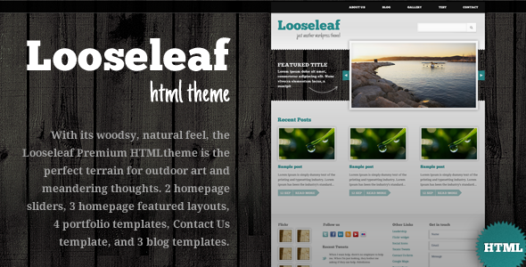 Looseleaf HTML Theme