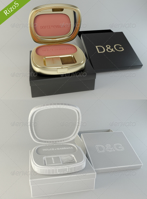 Blusher - 3DOcean Item for Sale