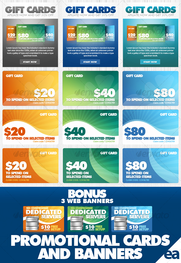 GraphicRiver Promotional Cards Banners 56033
