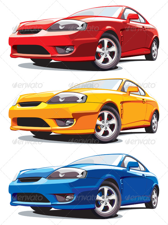 Modern car - Objects Vectors