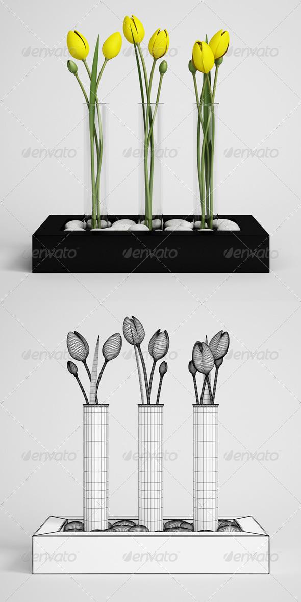 3DOcean CGAxis Tulips in Vase 11 168200