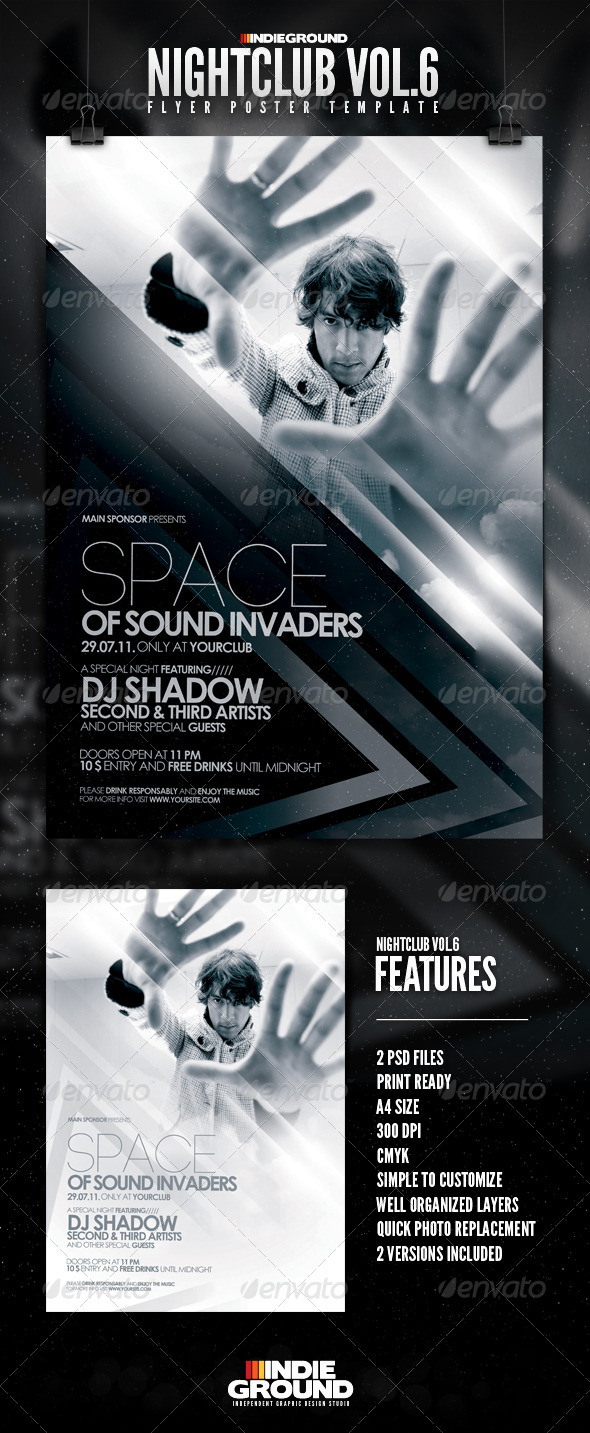 Nightclub Flyer/Poster Vol. 6 - Clubs & Parties Events