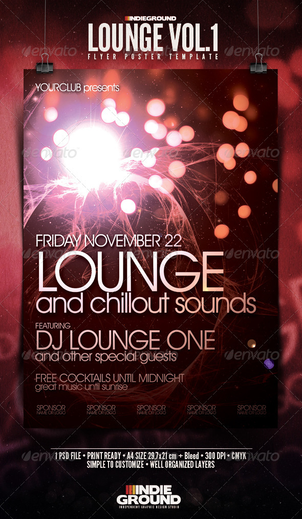GraphicRiver Lounge Flyer Poster 138905