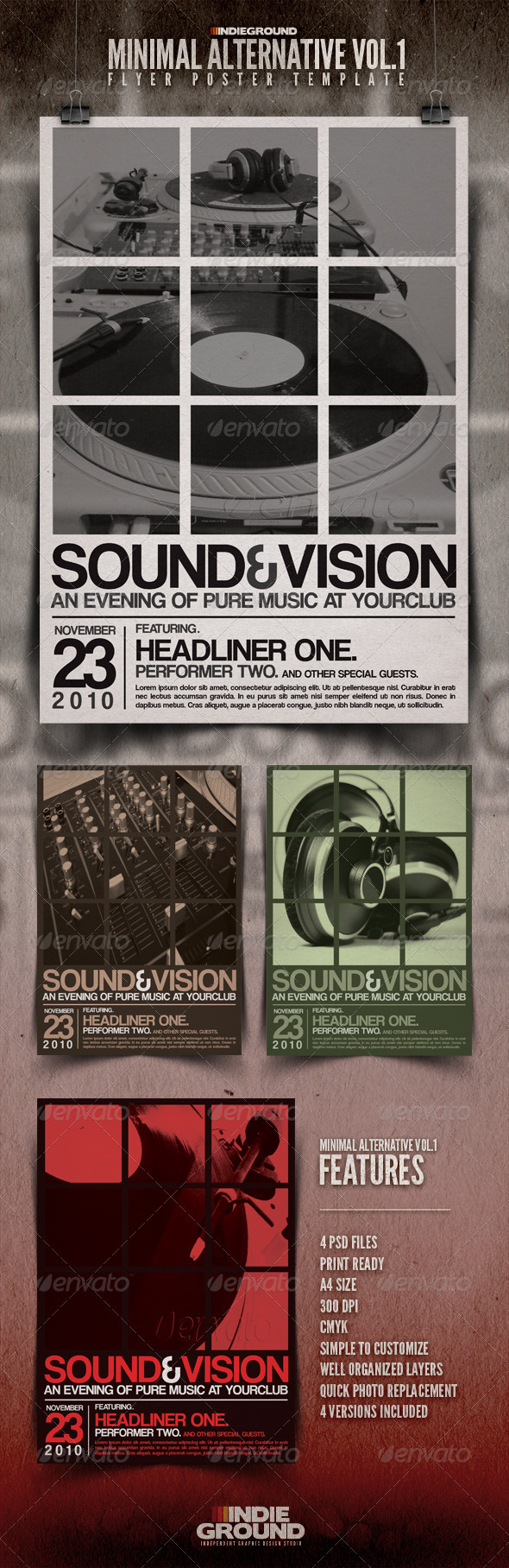 GraphicRiver Minimal Alternative Flyer Poster 139867