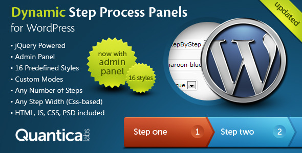 Dynamic Step Process Panels for WordPress