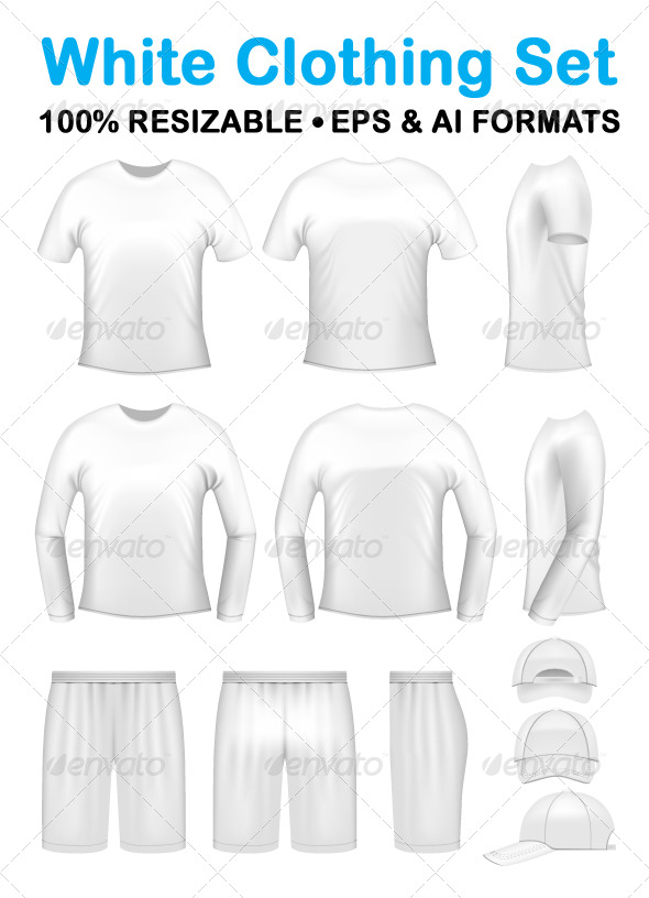 GraphicRiver White men s clothing templates 168567