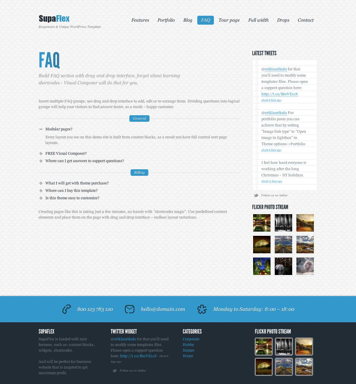 SupaFlex - Corporate / Creative WordPress Theme