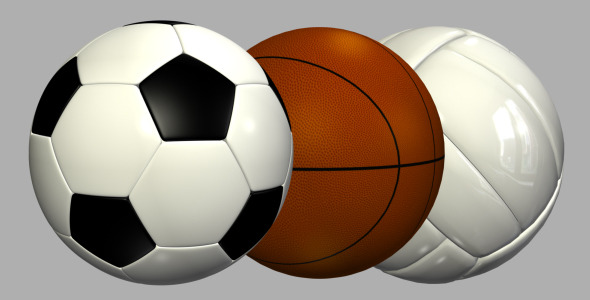 Motion Graphics Sports Balls Pack Videohive