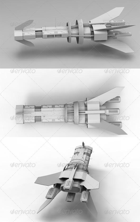 3DOcean Space ship 168829